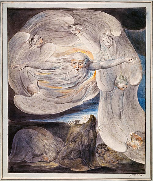 William Blake, The Lord Answering Job from the Whirlwind