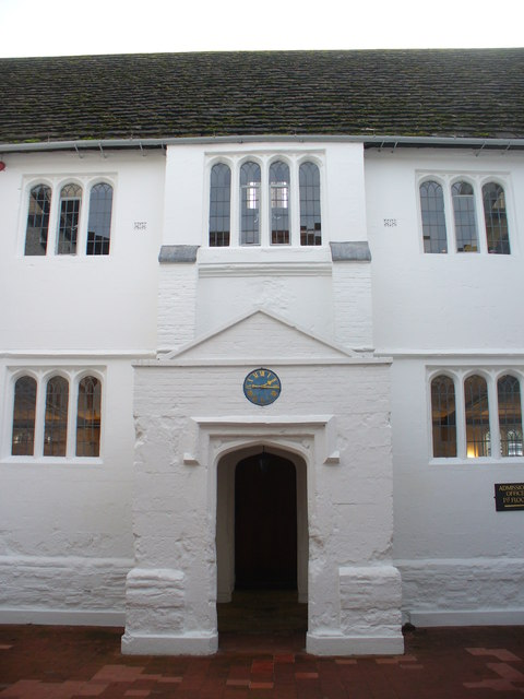 The old quad of the old school - the old library is behind the old top window