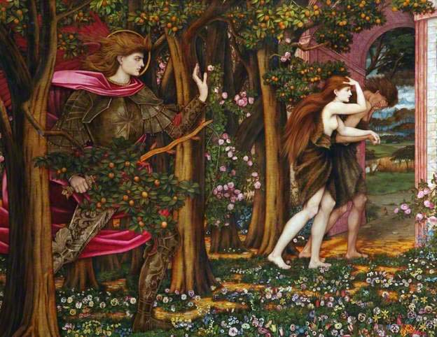 John Roddam Spencer Stanhope, The Expulsion from Eden; c.1900