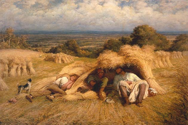 Reapers, Noonday Rest 1865 by John Linnell 1792-1882