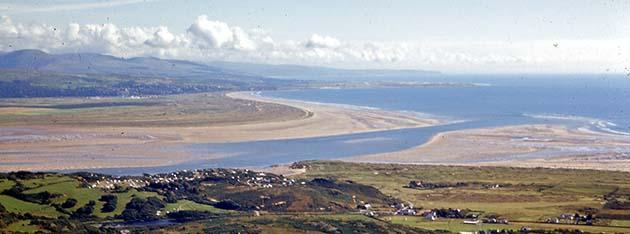 Afon Dwyryd from Moel-y-Gest, August 1965