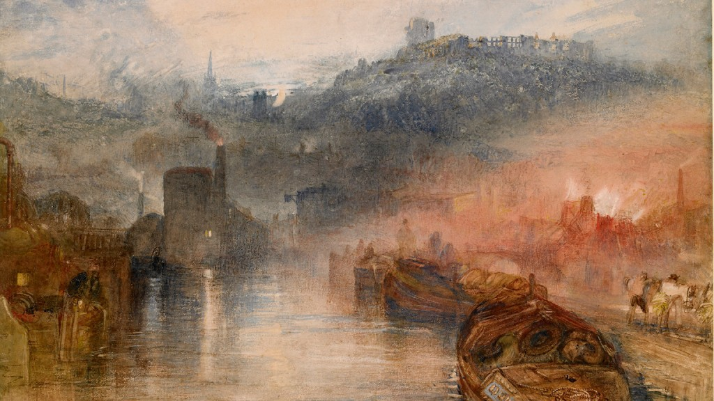 Dudley, Staffs, by Turner - painted at the time my Garvey ancestors were iron workers there. They survived by turning black...